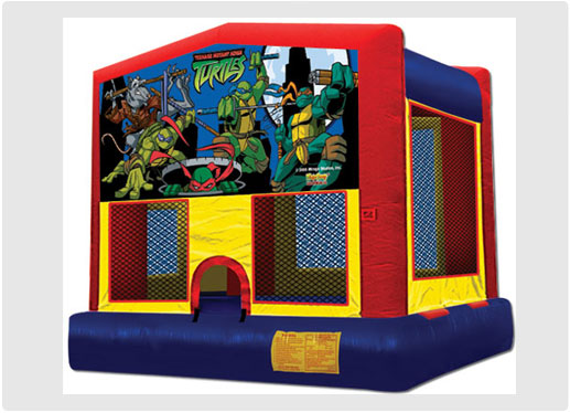 Ninja Turtles Inflatable Jumping Castle Rental Toronto